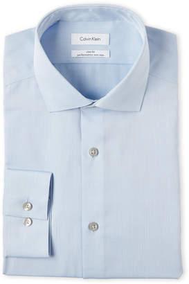Calvin Klein Herringbone Slim Fit Dress Shirt