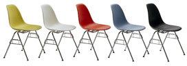 Herman Miller Eames Molded Plastic Side Chair w 4 Leg Base