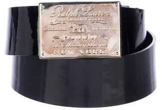Ralph Lauren Patent Leather Buckle Belt