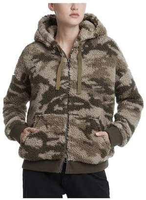 ATM Anthony Thomas Melillo Camo Sherpa Zip-Up Hoodie