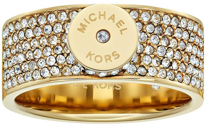 MICHAEL Michael KorsMichael Kors - Logo Pav Disc Band Ring Ring