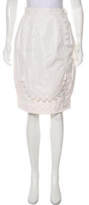 Saint Laurent Asymmetrical Knee-Length Skirt