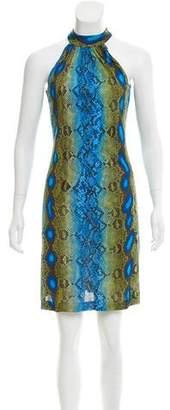 Michael Kors Sleeveless Snake Print Dress
