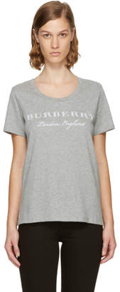 Burberry Grey Logo Mera T-Shirt