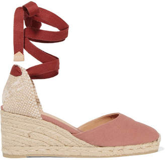 Castaner Carina 60 Canvas Wedge Espadrilles - Antique rose