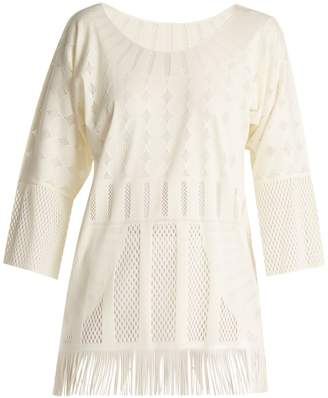 Pleats Please Issey Miyake Technical-knit tunic top
