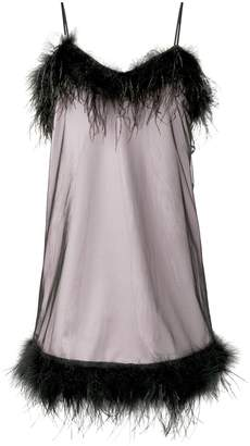 McQ feather trim slip dress