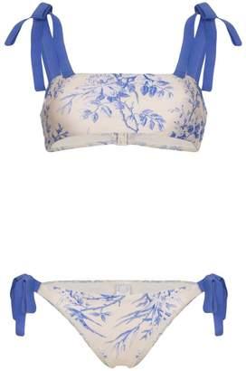 Zimmermann Verity floral-print bikini