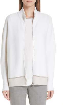 Fabiana Filippi Bicolor Beaded Cardigan