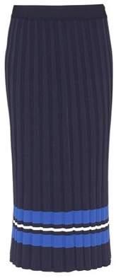 Tech Knit pleated skirt