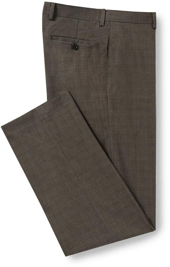 Ralph Ralph Lauren Relaxed Fit Flat-Front Plaid Dress Pants