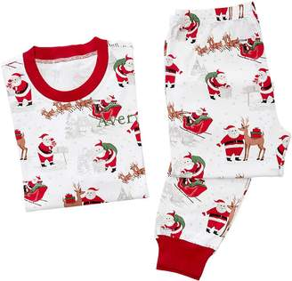 Pottery Barn Kids Adult Heritage Santa Cotton Tight Fit Pajama, XS