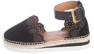 See by Chloe Embroidered Suede Espadrilles