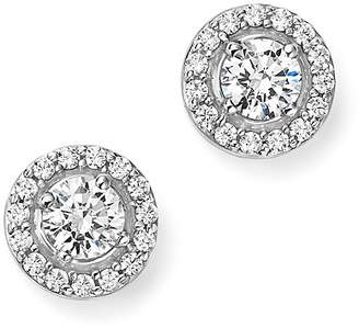 Bloomingdale's Diamond Halo Stud Earrings in 14K White Gold, 1.50 ct. t.w. - 100% Exclusive