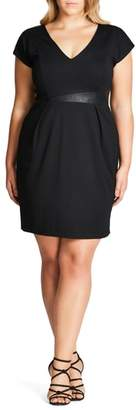 City Chic Spliced Mod Sheath Dress