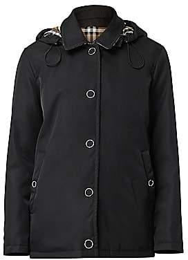Burberry Women's Southport Short Nylon Car Coat