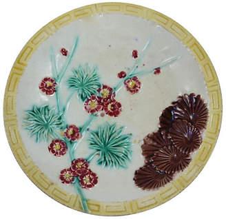 One Kings Lane Vintage Wedgwood Majolica Wall Plate - Rose Victoria