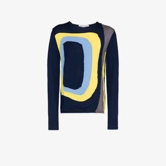 Comme des Garcons Homme Plus Shirt Panel knit wool sweatshirt