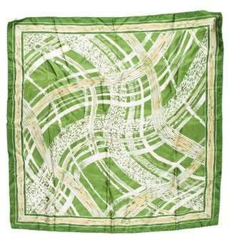 Burberry Printed Silk Scarf