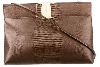 Salvatore Ferragamo Metallic Lizard Crossbody Bag