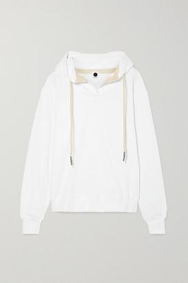 Bassike + Net Sustain Organic Cotton-jersey Hoodie - White