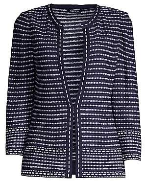 Misook Women's Tweed Dash-Trim Jacket