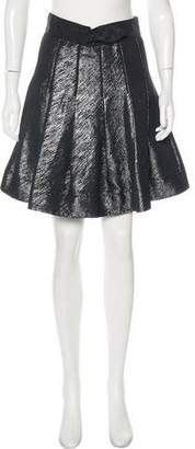 Zac Posen Z Spoke by Metallic Knee-Length Skirt