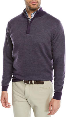 Peter Millar Men's Birdseye Quarter-Zip Sweater