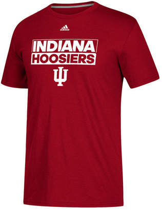 adidas Men Indiana Hoosiers Performance Wordstack T-Shirt