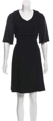 Mayle Empire-Waist Knee-Length Dress Black Empire-Waist Knee-Length Dress
