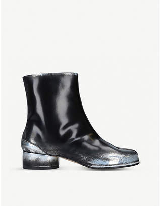 Maison Margiela Tabi paint-effect leather boots
