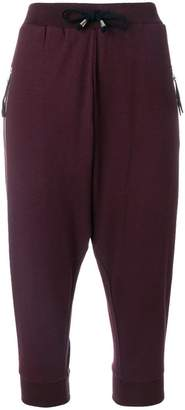 Unconditional harem cropped trousers
