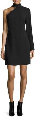 Shoshanna Thayer Asymmetric Long-Sleeve Mini Dress