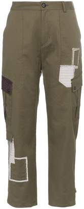 78 Stitches patchwork combat trousers