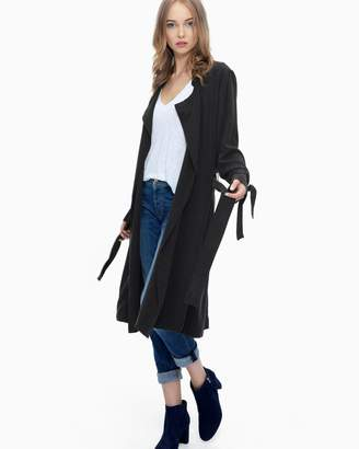 Splendid Sandwash Twill Drape Trench Coat