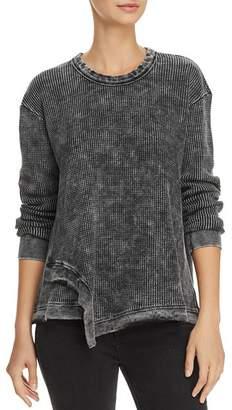 Splendid Aurora Waffle-Knit Sweatshirt