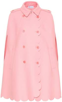 RED Valentino Scalloped wool-blend cape