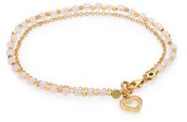 Astley ClarkeAstley Clarke Biography Rose Quartz & White Sapphire Heart Beaded Friendship Bracelet