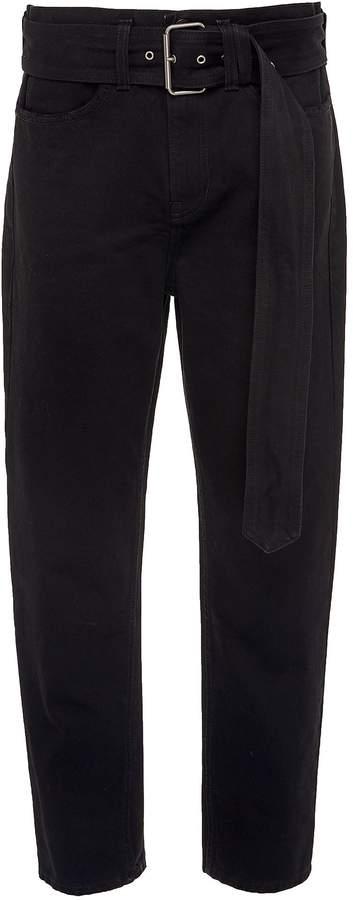 PSWL 'Skater' belted cropped jeans