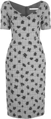 Jason Wu Collection floral plaid print dress
