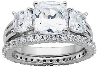 Diamonique Epiphany 4.50cttw 2-Piece Bridal Ring Set