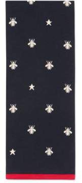 Gucci Bees and stars wool scarf