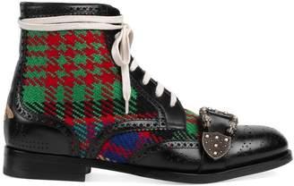 Gucci Tartan Queercore brogue boot