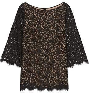 Michael Kors Scalloped Cotton-Blend Corded Lace Top