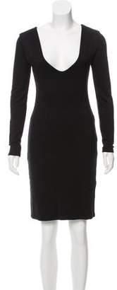 The Row Long Sleeve Knee-Length Dress