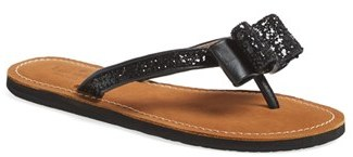 Women's Kate Spade New York 'Icarda' Glitter Flip Flop $98 thestylecure.com