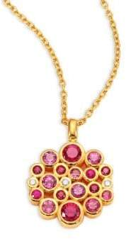 Gurhan Pointelle Diamond, Multi-Stone& 24K Yellow Gold Pendant Necklace