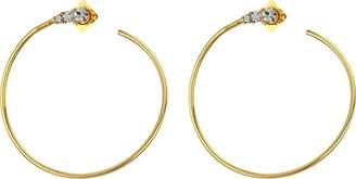 Vince Camuto Women's Round Stone Hoop Earrings