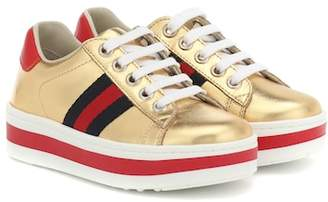 aa5e06828d2 Gucci Kids Ace leather platform sneakers