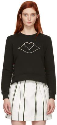 See by Chloe Brown Lips Heart Sweatshirt